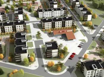 Панорама застройки жилого комплекс